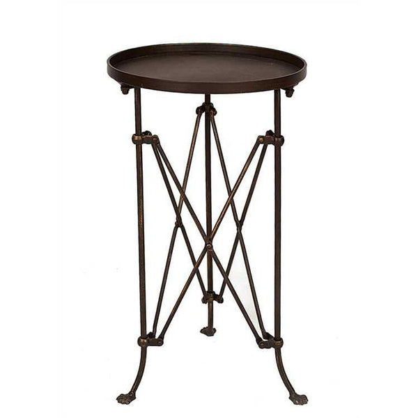 Round Metal End Table - City Home - Portland Oregon - Furniture and Home Decor