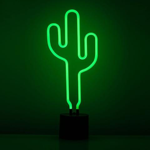 Cactus Neon Desk Light - City Home - Portland Oregon - Furniture and Home Decor
