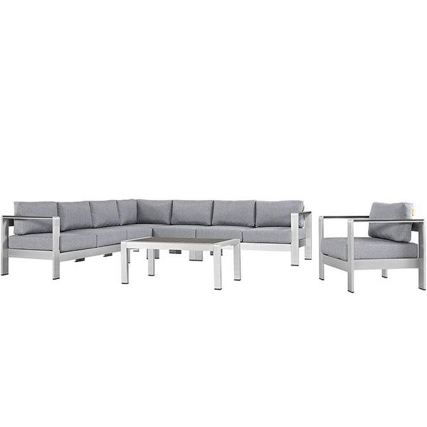 Shore 7 Piece Outdoor Patio Sectional Sofa Set - City Home - Portland Oregon - Furniture and Home Decor