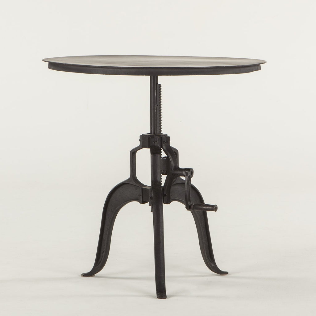 Industrial Loft Adjustable Side Table - City Home - Portland Oregon - Furniture and Home Decor