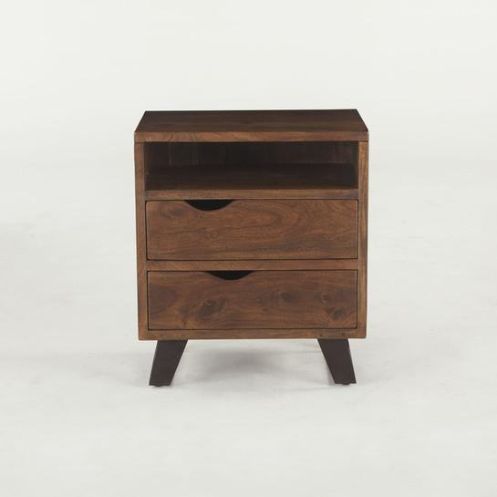 London Loft Wood Nightstand - City Home - Portland Oregon - Furniture and Home Decor