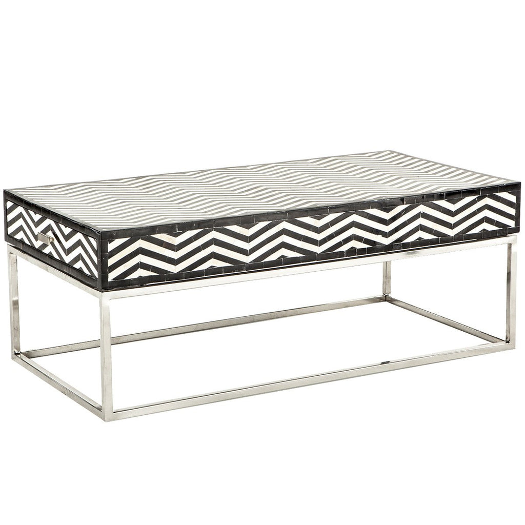 Noir Chevron Coffee Table - City Home - Portland Oregon - Furniture and Home Decor