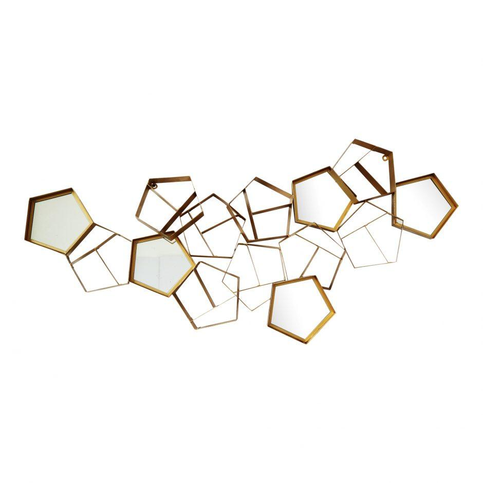 Pentagon Wall Mirror Decor - City Home - Portland Oregon - Furniture and Home Decor