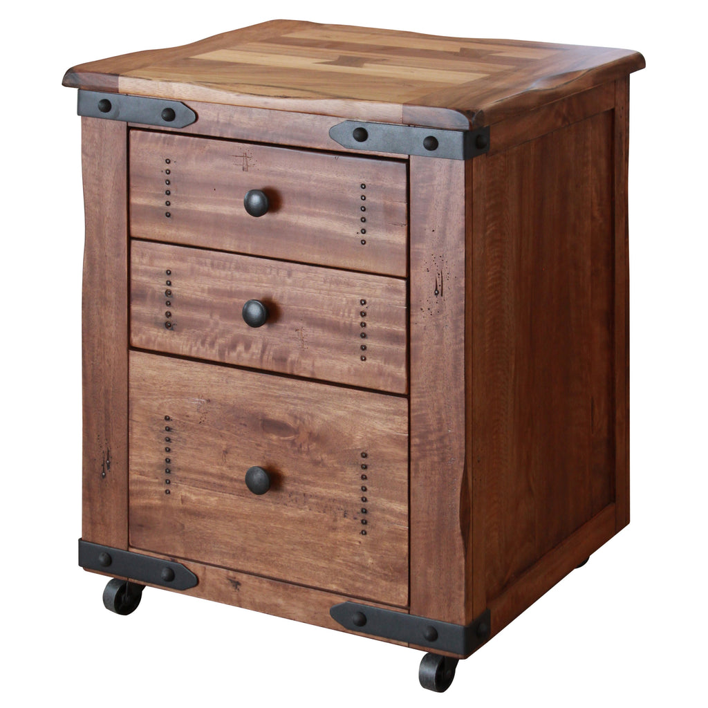 Parota Wood File Cabinet Wooden Office Furniture City Home