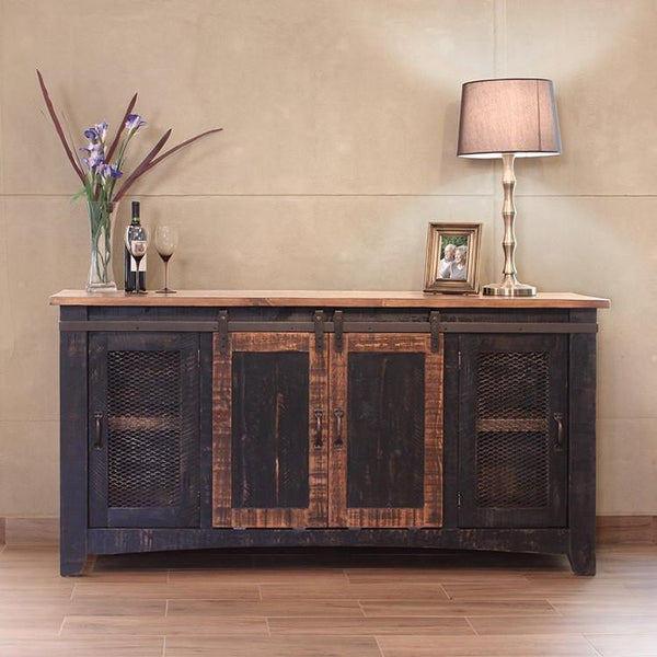Pueblo Black TV Stand - City Home - Portland Oregon - Furniture and Home Decor
