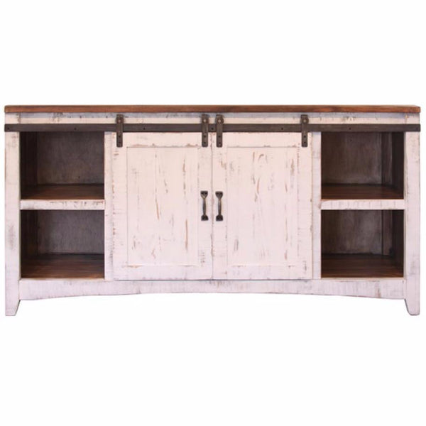Pueblo White TV Stand - City Home - Portland Oregon - Furniture and Home Decor