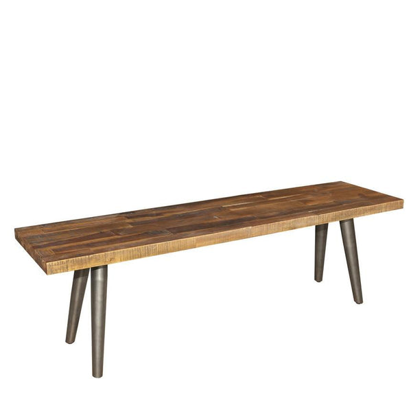 Metropolis Wood Seat Stool Industrial Dining Furniture