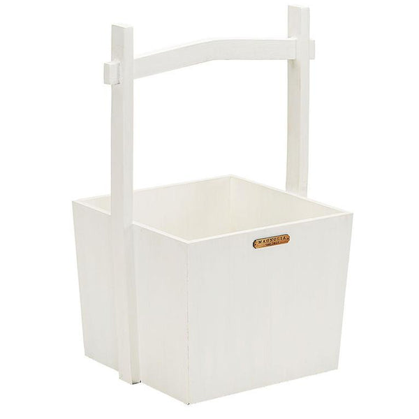 Magnolia Home Wishing Well Basket Jo's White