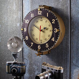 Steel & Brass Marine Wall Clock