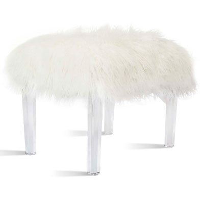 Scarlett Faux Fur Stool