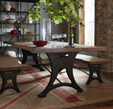 Organic Forge Wood Dining Table
