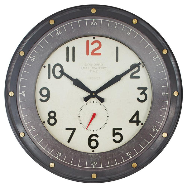 Observatory Wall Clock - City Home - Portland Oregon - Furniture and Home Decor