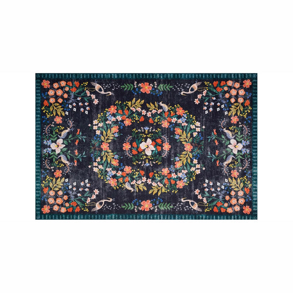 Luxembourg Black Area Rug - City Home - Portland Oregon - Furniture and Home Decor