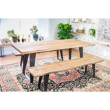 Carmel Acacia Live Edge Wood Bench - City Home - Portland Oregon - Furniture and Home Decor