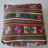 Square Turkish Kilim Fabric Pouf