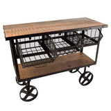 Reclaimed Wood & Iron Entertaining Cart - City Home - Portland Oregon - Furniture and Home Decor