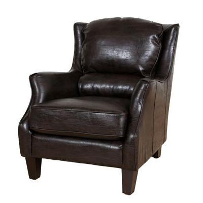 Garnett Leather Accent Chair - City Home - Portland Oregon - Furniture and Home Decor