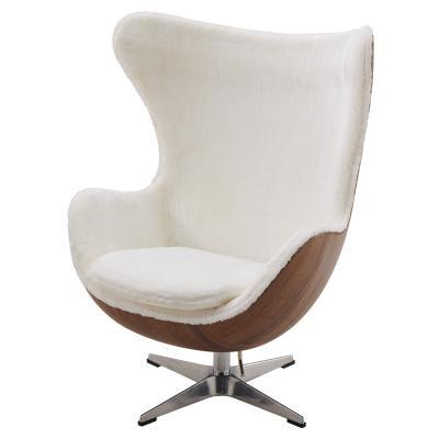 Axis Faux Fur Swivel Rocker - City Home - Portland Oregon - Furniture and Home Decor