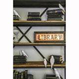 Vintage Style Light Up Library Sign
