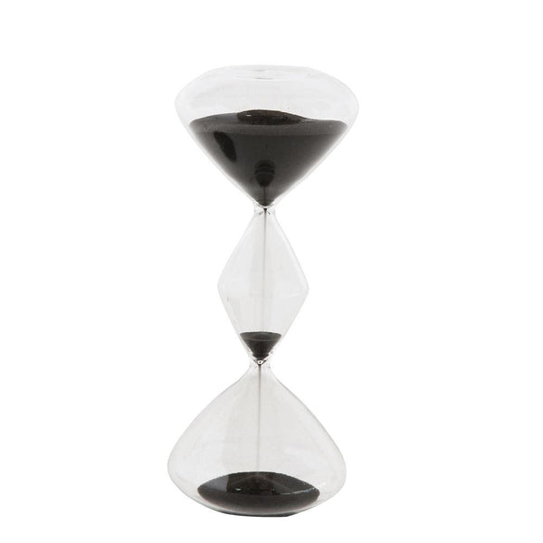 3-Chamber Black Sand Hourglass - City Home - Portland Oregon - Furniture and Home Decor