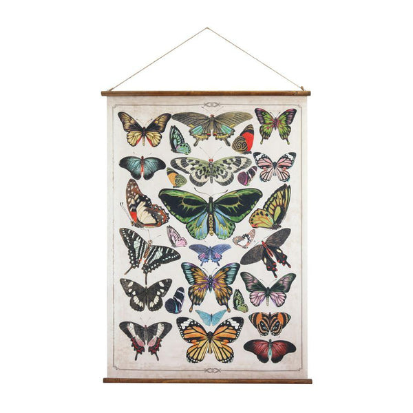 Butterfly Wall Scroll - City Home - Portland Oregon - Furniture and Home Decor