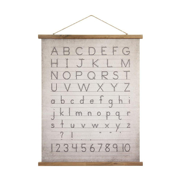 Alphabet and Numbers Wall Scroll - City Home - Portland Oregon - Furniture and Home Decor