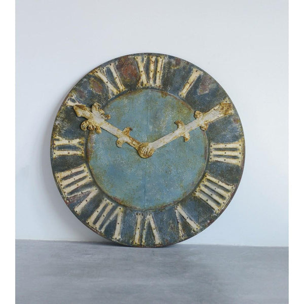 Distressed Clock - City Home - Portland Oregon - Furniture and Home Decor