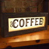 Vintage Light Up Coffee Sign - City Home - Portland Oregon - Furniture and Home Decor