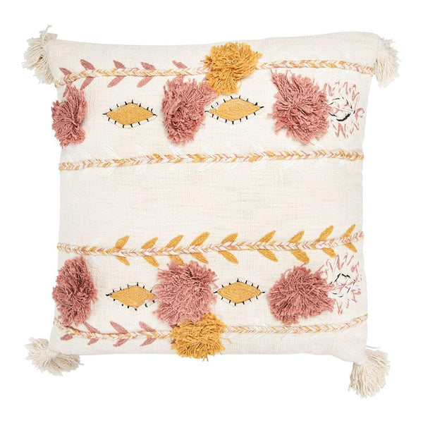Cream Embroidered Pillow