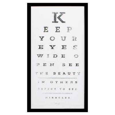 Eye Chart Framed Art - City Home - Portland Oregon - Furniture and Home Decor