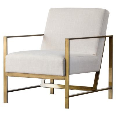 Francis Fabric and Metal Arm Chair - City Home - Portland Oregon - Furniture and Home Decor