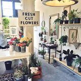 Fresh Cut Flowers Sign - City Home - Portland Oregon - Furniture and Home Decor