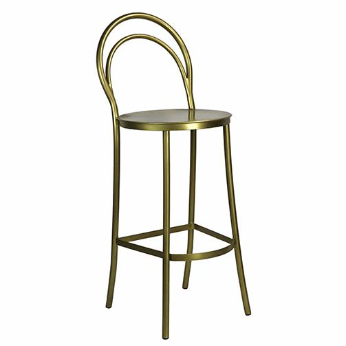 Metz Brass Bar Stool - City Home - Portland Oregon - Furniture and Home Decor