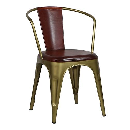 Leather & Brass Cigar Chair - City Home - Portland Oregon - Furniture and Home Decor
