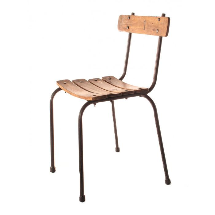 School chair back Hard Plastic Zuiver School Chair Wood And Metal Vintage Seating City Home