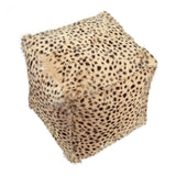 Spotted Goat Fur Pouf - City Home - Portland Oregon - Furniture and Home Decor