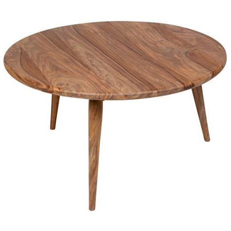 Urban Wood Round Coffee Table