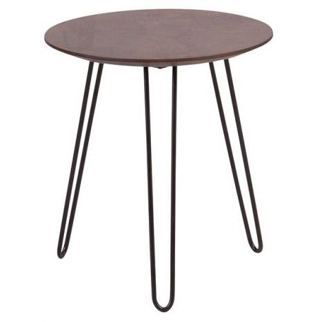 Graphik Wood Round End Table - City Home - Portland Oregon - Furniture and Home Decor