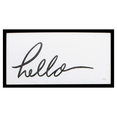 Hello Framed Wall Art - City Home - Portland Oregon - Furniture and Home Decor