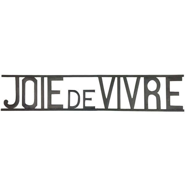 Joie de Vivre Wall Sign - City Home - Portland Oregon - Furniture and Home Decor