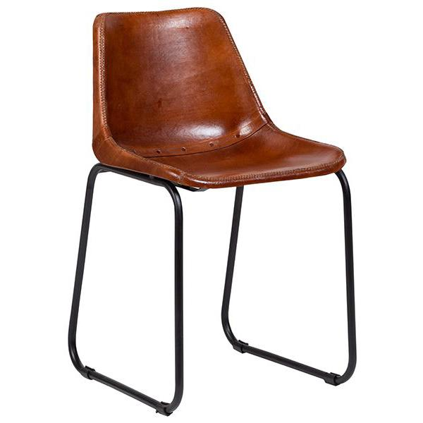Leather Dining Chairs w/Metal Base - City Home - Portland Oregon - Furniture and Home Decor