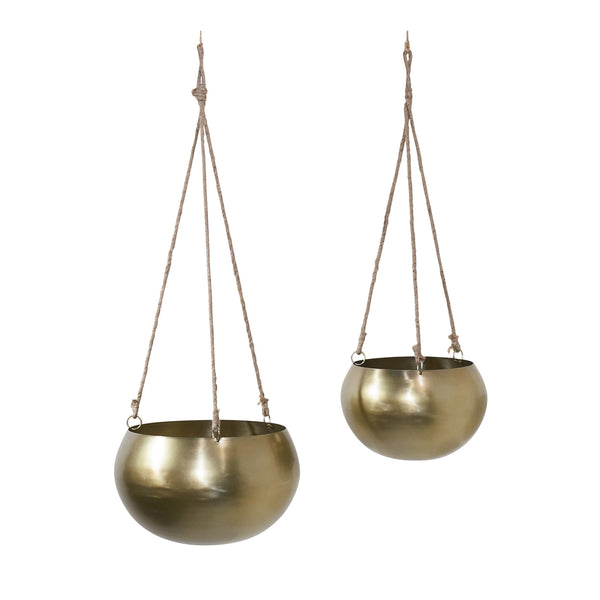 Hanging Brass Planter - City Home - Portland Oregon - Furniture and Home Decor