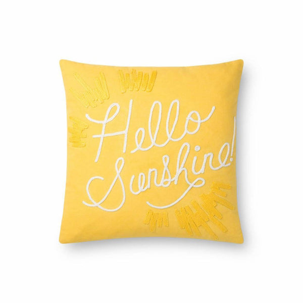 Hello Sunshine Pillow - City Home - Portland Oregon - Furniture and Home Decor