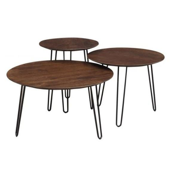 Graphik Coffee Table 3 Piece Set - City Home - Portland Oregon - Furniture and Home Decor