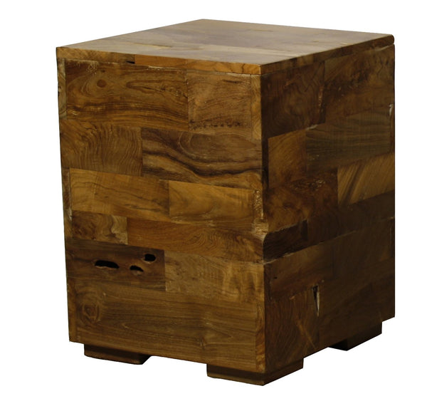 Hugo End Table Reclaimed Wood Living Room Table Wood Side Table City Home