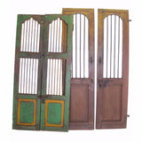 Vintage Tall Security Door Set of 2