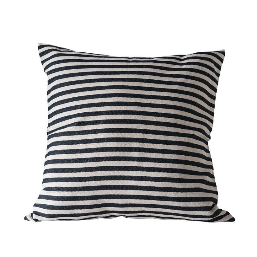 Black & White Striped Pillow - City Home - Portland Oregon - Furniture and Home Decor