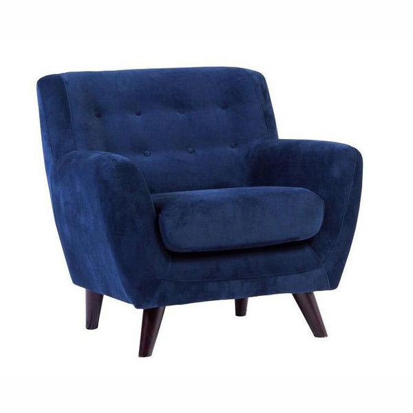 Edie Blue Velvet Chair - City Home - Portland Oregon - Furniture and Home Decor