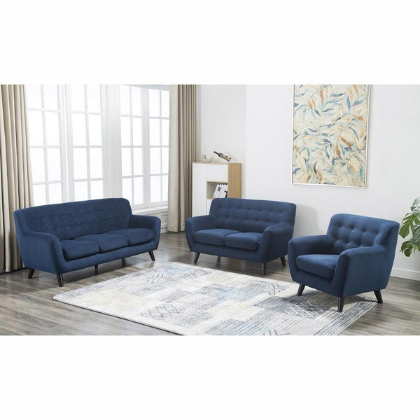 Edie Blue Velvet Loveseat - City Home - Portland Oregon - Furniture and Home Decor