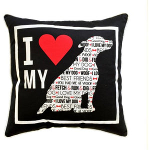 I Heart My Dog Pillow